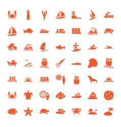 ocean icons vector image