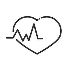 online health heartbeat medical cardiology covid vector image