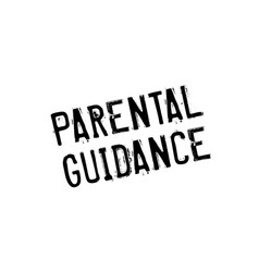 parental guidance rubber stamp vector image