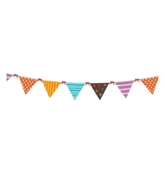 Pennants festival isolated flat icon vector