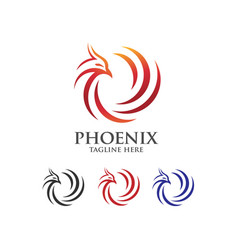Phoenix abstract logo vector