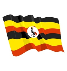 Political waving flag of uganda vector