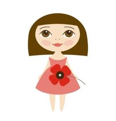 Pretty girl vector image