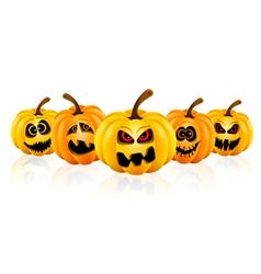 Pumpkin for Halloween isolated vector image