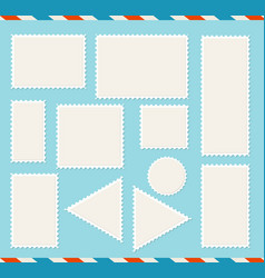realistic detailed 3d blank empty template white vector image