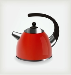Red kettle vector