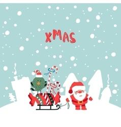 Santas Claus XMas vector image