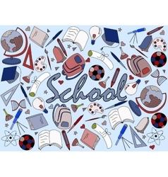 School coloring book vector image