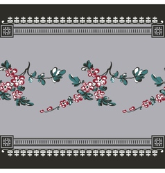 seamless vintage with seamless floral vector image vector image