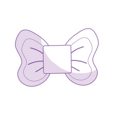 Silhouette cute riibon bow decoration design vector