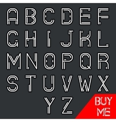 Simple line hipster geek abstract retro alphabet vector