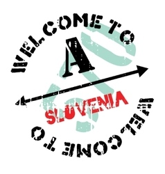 Slovenia stamp rubber grunge vector