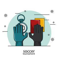 soccer tournament concept vector image