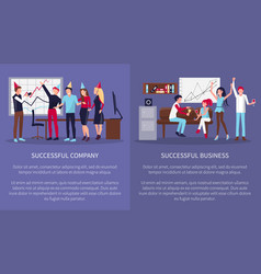 successful business company vector image