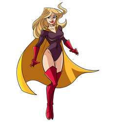 Superheroine flying 5 vector