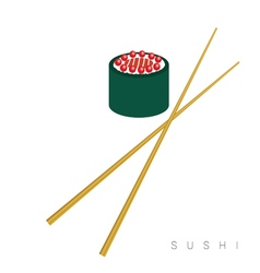 Sushi food icon vector