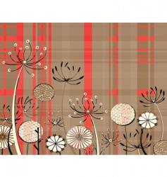 tartan flowers vector image
