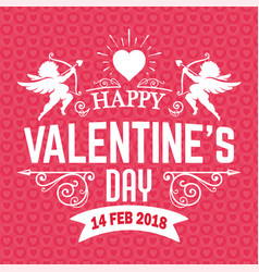 Valentine day pink cupid 2018 image vector