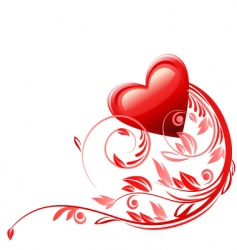 valentines card decoration vector image
