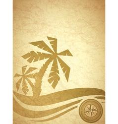 vintage grunge travel background vector image