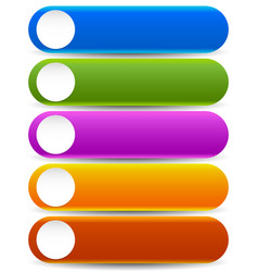 Vivid colorful button templates with blank white vector
