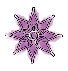 watercolor flower cartoon vector image