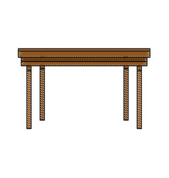 Wooden table furniture ornament empty image vector