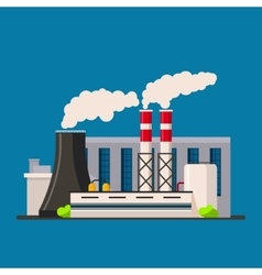 Factory building icon flat style vector image vector image