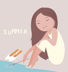 my lovely summer vector image vector image