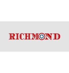 Richmond city name with flag colors vector
