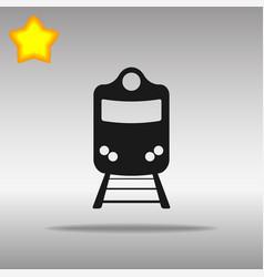 train black icon button logo symbol concept vector image vector image
