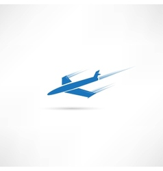 airplane symbol vector image vector image