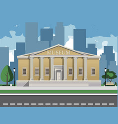 color depicting museum building with vector image vector image