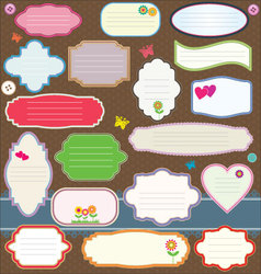 Gift tag and sticker vector image