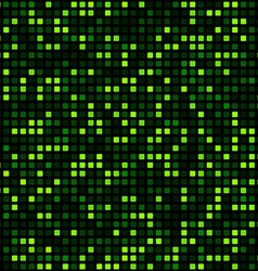 Green squares technology pattern vector
