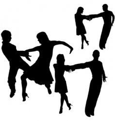 latino dance silhouettes vector image