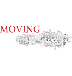 move word cloud concept vector image