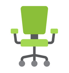 office chair flat icon furniture and interior vector image vector image