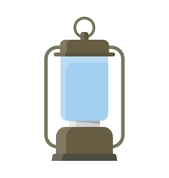 Portable electric lantern camping vector image