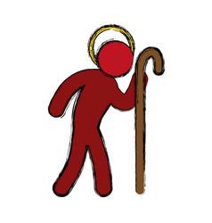 saint joseph pictogram vector image