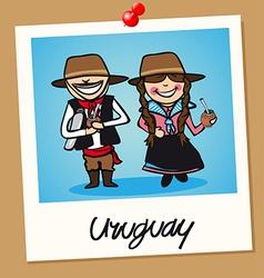 Uruguay travel polaroid people vector image vector image