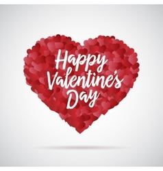 Valentine day heart Decorative background with vector image vector image