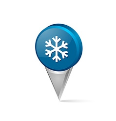 Winter snowflake pointer vector image vector image
