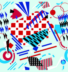 abstract geometric seamless pattern in bright vector image vector image