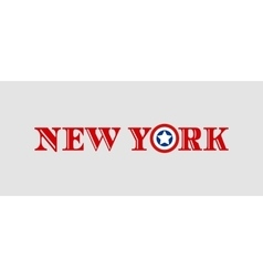 New York city name with flag colors vector image vector image