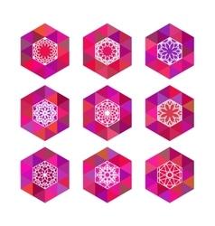Polygonal logo templates vector image vector image