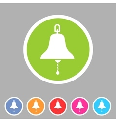 ship bell marine nautical icon flat sign symbol vector image