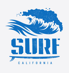 surfing print 007 vector image