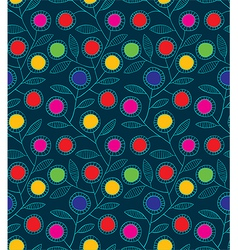 Abstract colorful floral seamless background vector image