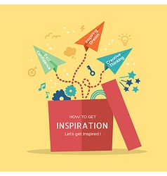 out of the box Inspiration concept vector image vector image